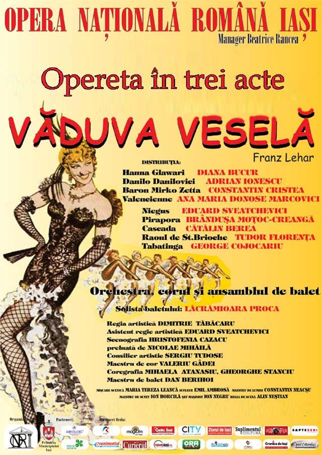 Afis-Vaduva vesela - Opera Iasi