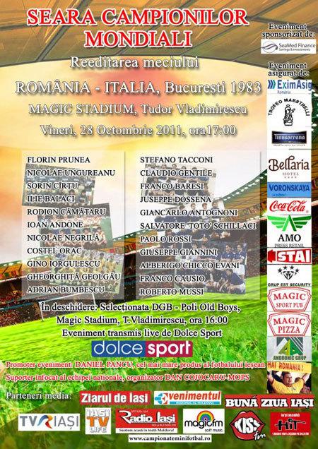 Romania-Italia 1983 la Iasi