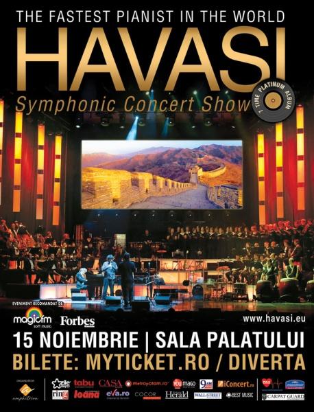 Concert Havasi la Sala Palatului