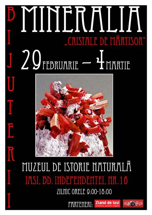afis Mineralia - Cristale de martisor