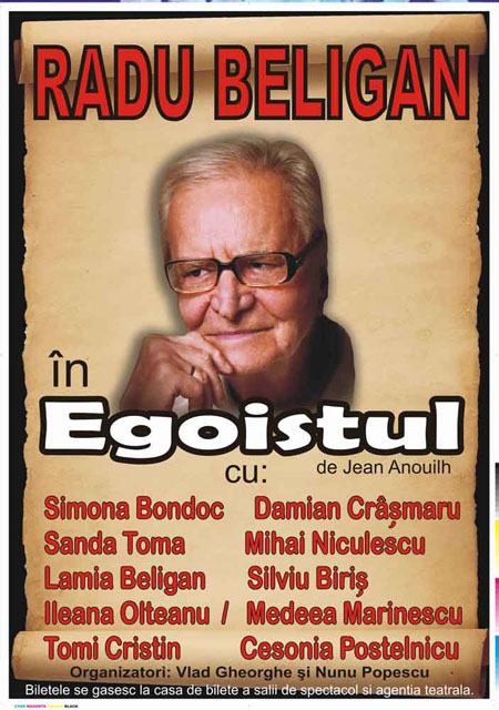 Radu Beligan revine la Iasi cu Egoistul