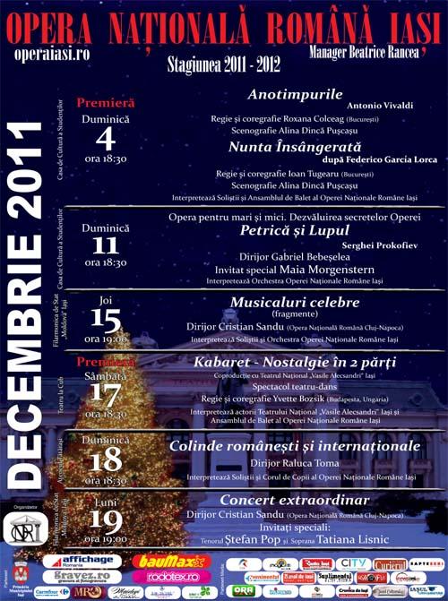 Opera Romana Iasi in decembrie