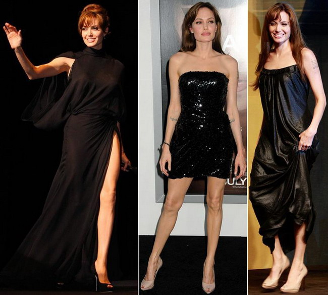 angelina-jolie - rochii negre
