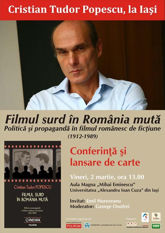 Afis-Conferinta si lansare de carte - Cristian Tudor Popescu, Iasi