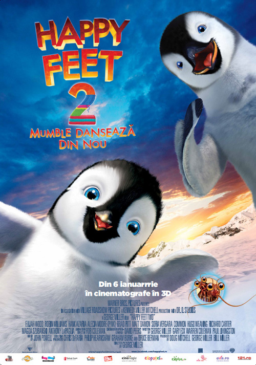Afis Happy Feet 2 - Mumble danseaza din nou