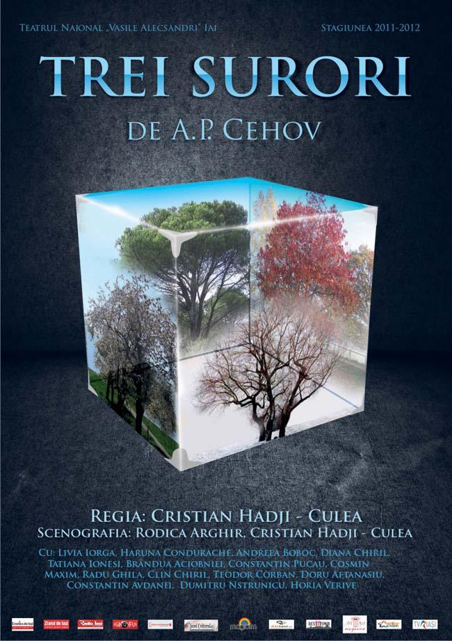Afis Trei surori, A.P. Cehov