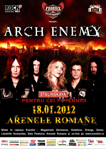 afis Arch Enemy in Romania