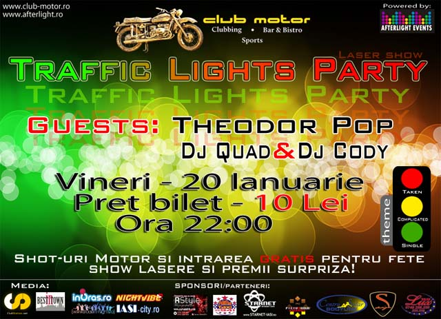 traffic lights party - club Motor
