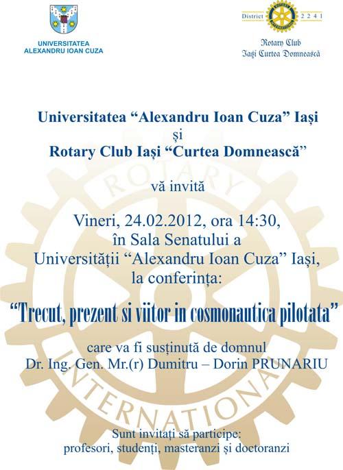 Afis Final Conferinta Dumitru Prunariu
