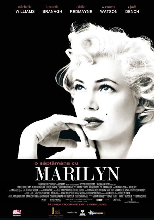 O saptamina cu Marilyn - Afis