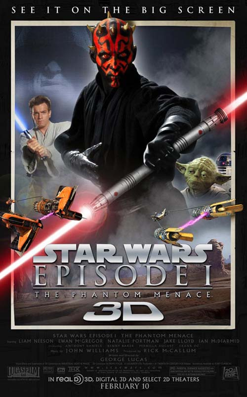 Afis Star Wars Episodul 1-Amenintarea Fantomei (3D)