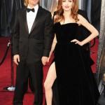 Brad Pitt si Angelina Jolie - Oscar 2012