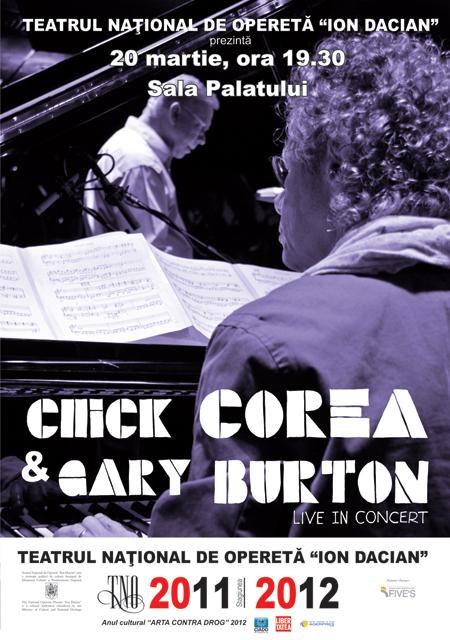 Chick Corea si Gary Burton la Sala Palatului