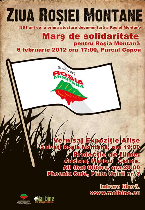 Rosia Montana 6 februarie 2012
