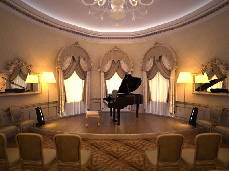 Salonul oval - Muzeul Mihail Kogalniceanu