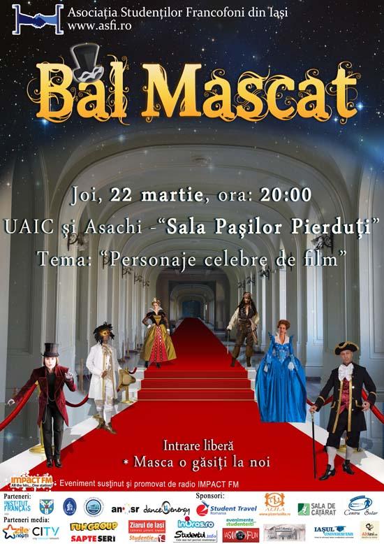 Afis Bal Mascat - Asociatia Studentilor Francofoni Iasi 550