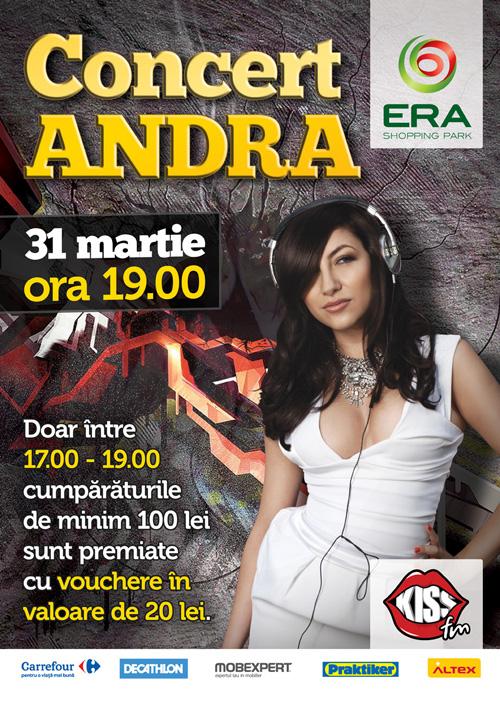 Afis Andra - Era Park, 31 martie 2012