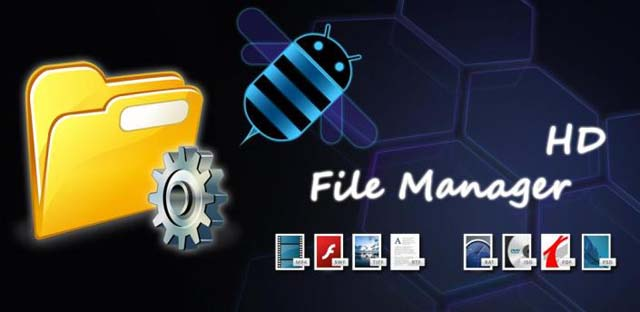 File Manager HD Top 10 aplicatii Android optimizate pentru tableta