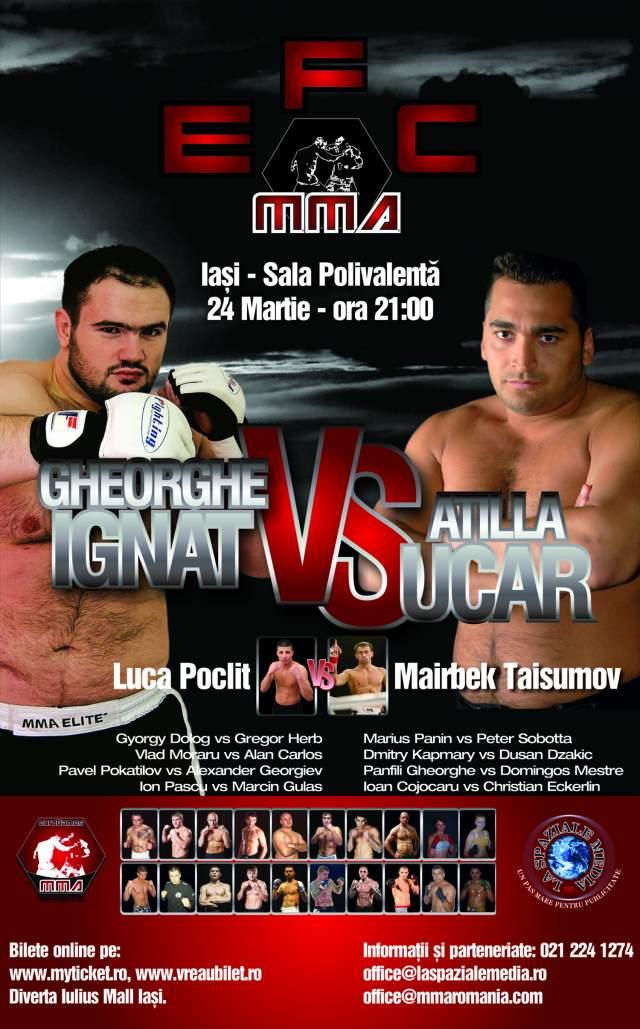 Gala Mixed Martial Arts la Iasi - sala Polivalenta