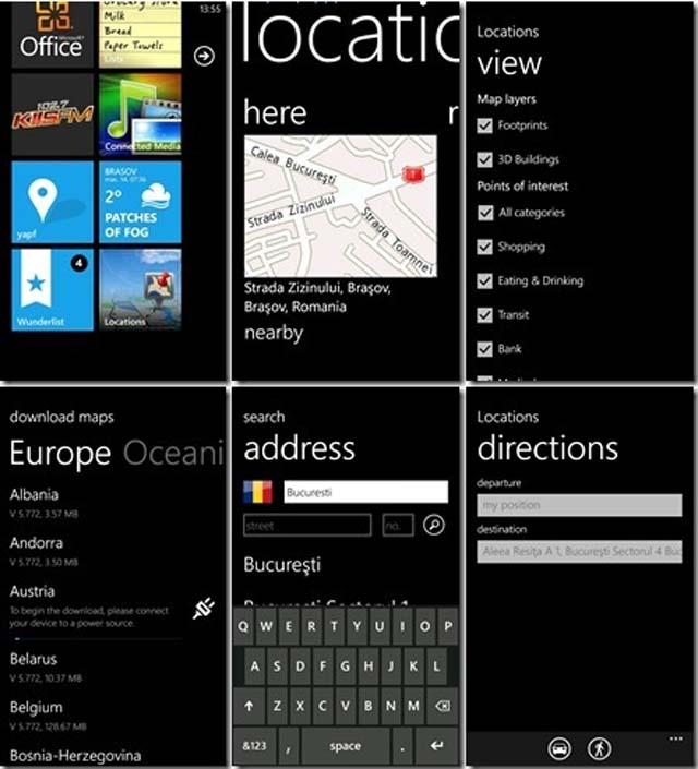 Navigare offline - Harti gratuite Romania-HTC Windows Phone