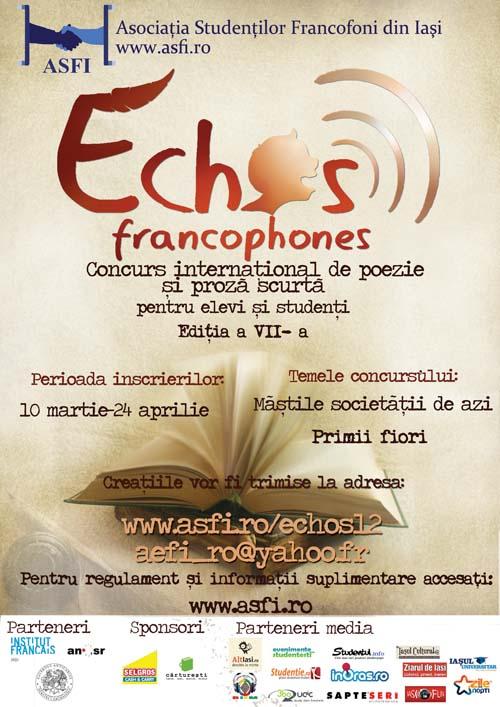 afis echos francophones 2012