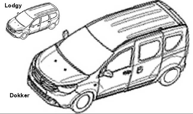schita Dacia Dokker