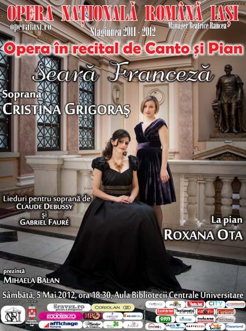 Seara franceza - recital de canto si pian