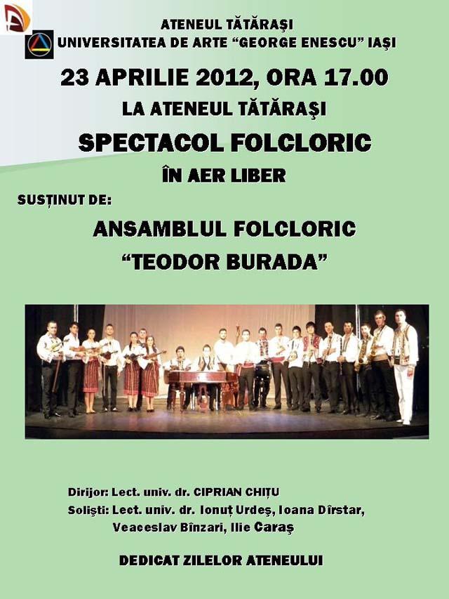 Spectacol folcloric ATENEUL TĂTĂRAŞI