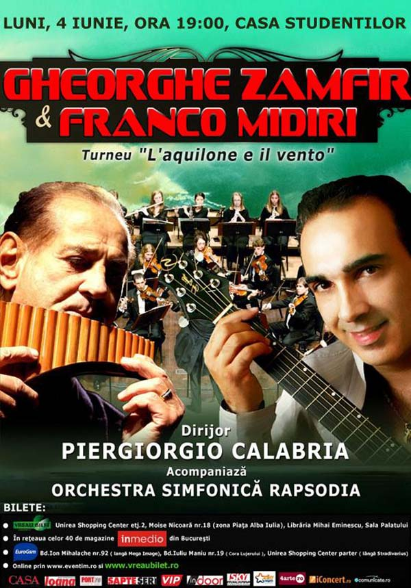 Turneu Gheorghe Zamfir si Franco Midiri - Iasi