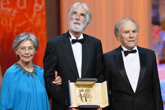 Echipa filmului Amour- Palme d'Or