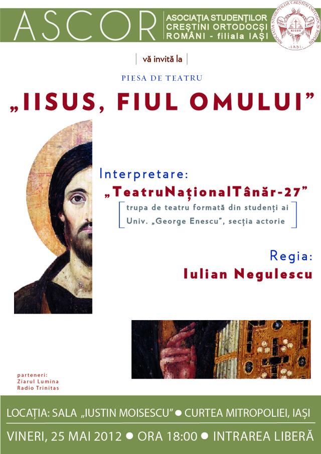 Iisus, fiul omului - piesa de teatru