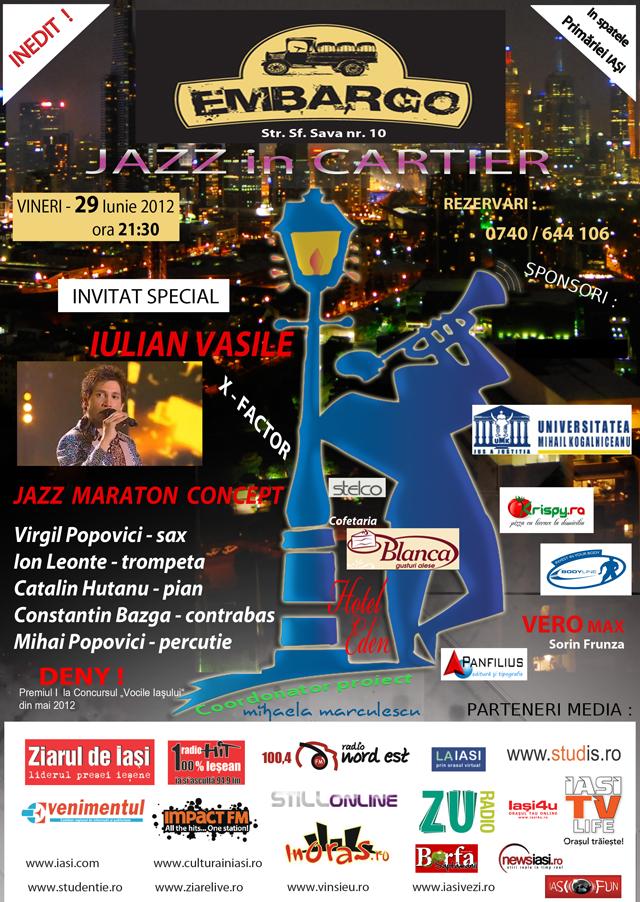 Afis jazz in cartier 29 iunie 2012