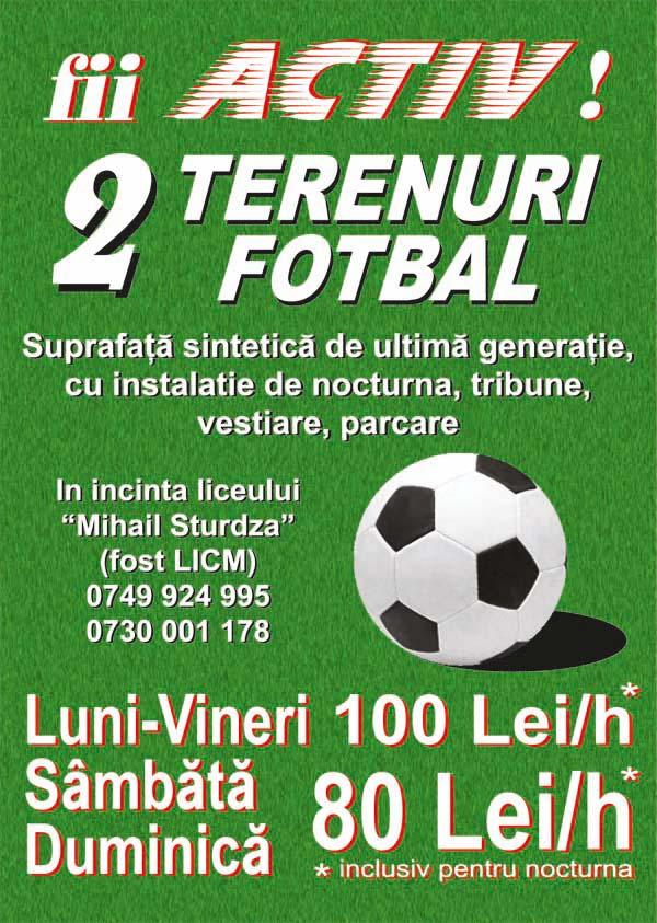 Teren fotbal - Liceul Mihail Sturzda