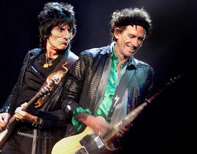 Ron Wood-Keith Richards-Staples Center