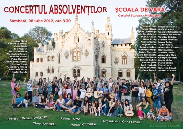 Scoala de vara - Concertul Absolventilor Miclauseni