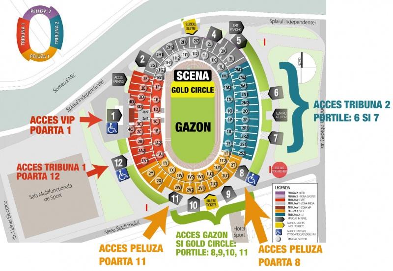harta acces la concertul Roxette