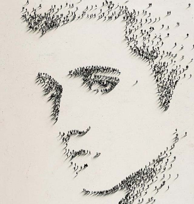 portrete cu pixeli umani 3