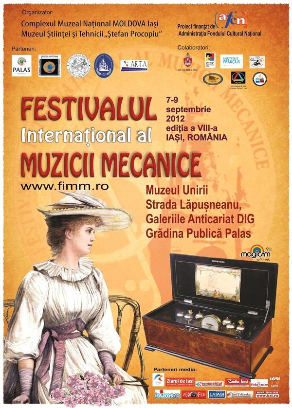 afis festivalul international al muzicii mecanice 2012 editia a VIII-a iasi