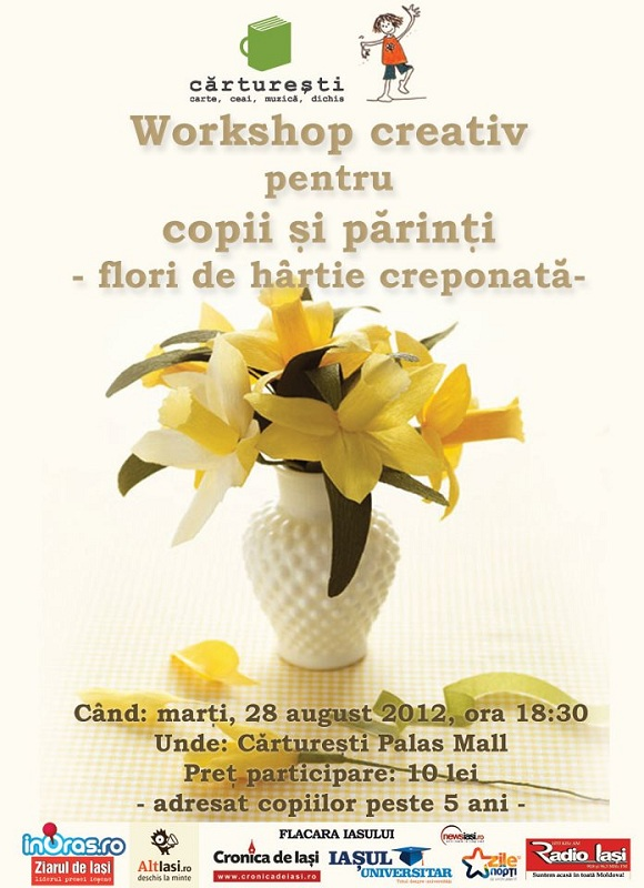 Afis Workshop creativ pentru copii si parinti