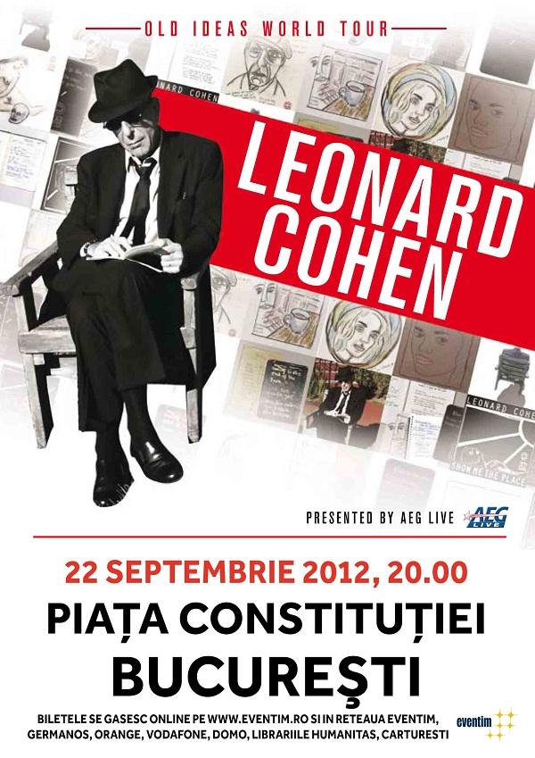 Leonard Cohen revine la București, în cadrul turneului internaţional Old Ideas 2012