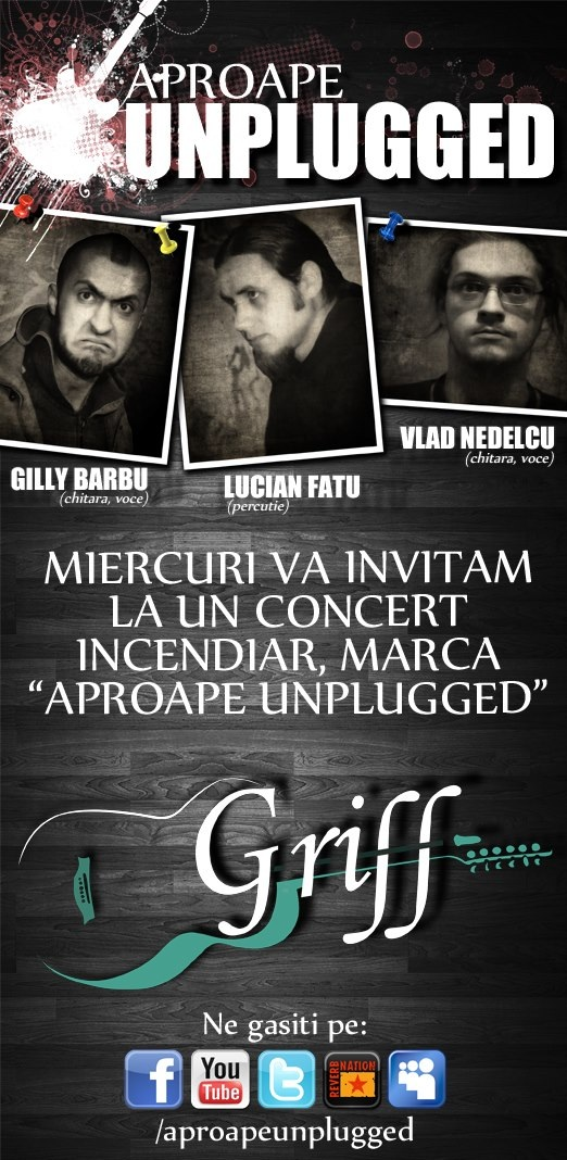 Concert Aproape Unplugged in Griff Bar/ 26 septembrie 2012