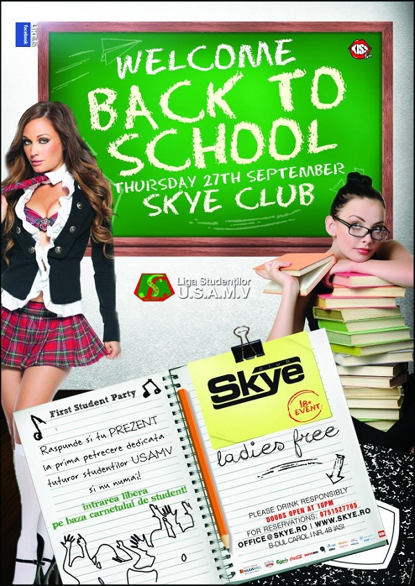 """Welcome back to school"" in Club Skye/ 27 septembrie"