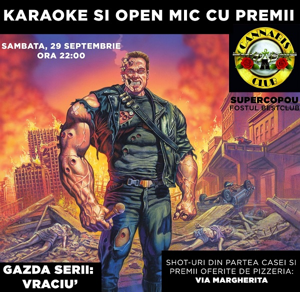 afis KaraOKe & Open Mic cu premii/ Cannabis Club