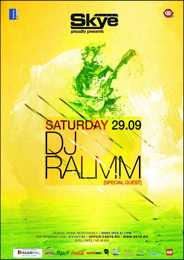 DJ Ralmm in Club Skye/ 29 septembrie 2012 afis