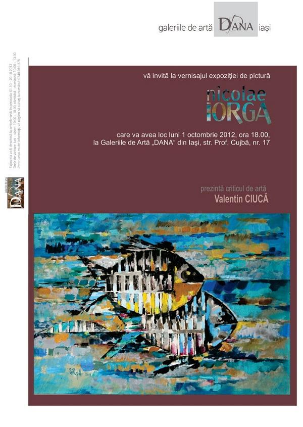 Expoziţie personală de pictură Nicolae Iorga/ 1-20 octombrie 2012 afis
