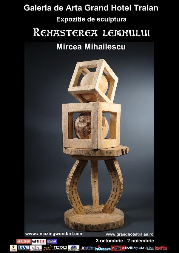 """afis Expozitia de Sculptura """"Renasterea Lemnului""""/ 3 octombrie - 2 noiembrie 2012"""