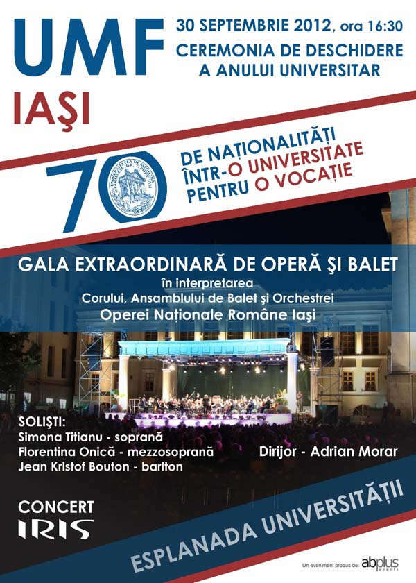 afis UMF 2012-2013 - ceremonie de deschidere