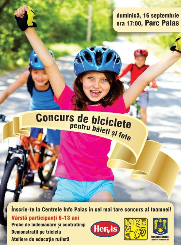 concurs de bicicleta pentru baieti si fete palas iasi