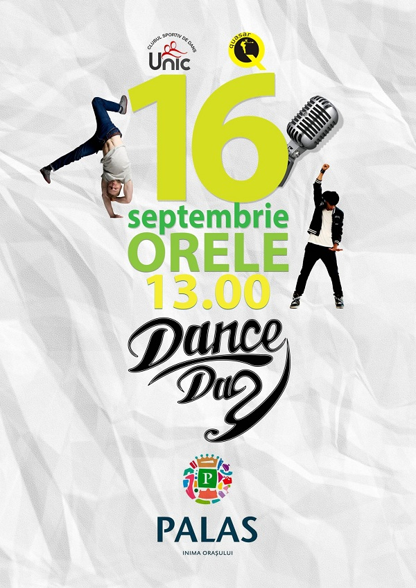 afis Dance Day la Palas 16 septembrie 2012