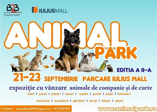 afis Expo Animalpark: târg destinat animalelor de companie, bunuri și servicii pentru creșterea și îngrijirea lor, 21 - 23 septembrie 2012